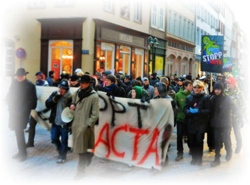 Occupys anti ACTA  Demo in Heidelberg I