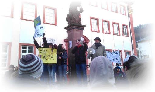Occupys anti ACTA  Demo in Heidelberg IV