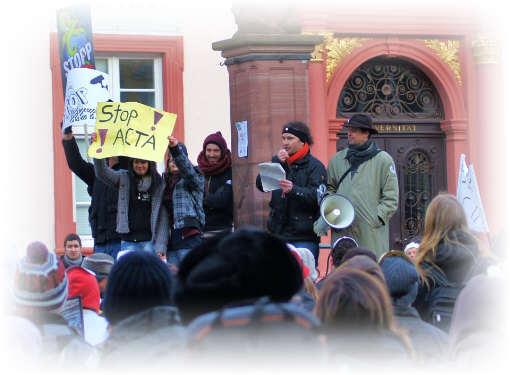Occupys anti ACTA  Demo in Heidelberg V